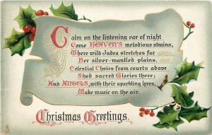 Christmas~Calligraphy Scroll~Calm on the Listening Ear of Night~TUCK Xmas Hymns