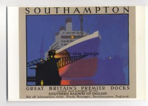ad2911 - Southern railway - Premier Docks & Liner at Southampton  - Postcard