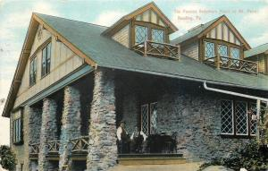 Reading PA Men Sit on Porch @ Koechler's Roost~Big Dormers~Rustic Railing~1910