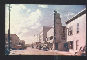 FAIRBANKS ALASKA DOWNTOWN MAIN STREET SCENE 1940's CARS VINTAGE POSTCARD