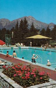 Swimming Pool , Jasper Park Lodge , Alberta , Canada , 50-60s