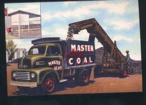 MASTER COAL DELIVERY DUMP TRUCK ADVERTISING POSTCARD