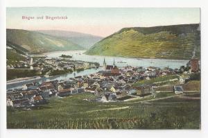 Germany Bingen und Bingerbruck Rhein River Vtg c 1910 Dr Trenkler Co Postcard