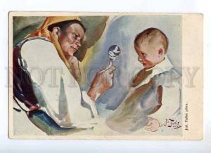 234704 Mom Mother & Baby by FALAT Vintage Color postcard