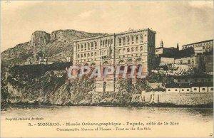 Old Postcard MONACO. - Mus�e Oc�anographique - c�t� Fa�ade Sea