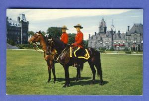 Montreal, Quebec, Canada Postcard, Mounties On Horseback