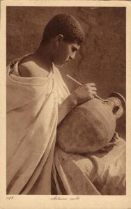 Arabian Artist paints a Vase (1920s) L. & L. 127 Postcard