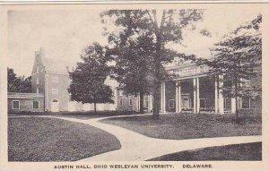 Ohio Delaware Austin Hall Ohio Wesleyan University Albertype