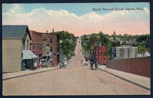 North Howard Street Akron OH used c1920's