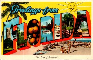 Florida Greetings From The Land Of Sunshine 1963