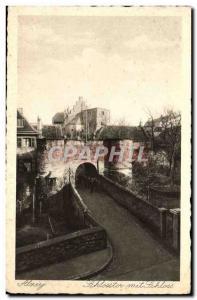 Old Postcard Alzey Schlosstor mit Schloss
