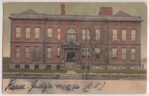 High School Port Chester NY New York Front View of Building 1900's Postcard