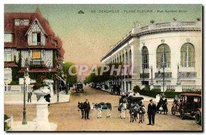 Old Postcard Deauville Beach Fleurie Rue Gontaut Biron Anes