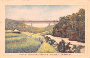 Indonesia, Republik Indonesia Gezicht op de Spoorbrug bij Tjiamis, Tasikmalaj...