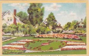 Rhode Island Providence Roger Williams Park Floral Clock 1954