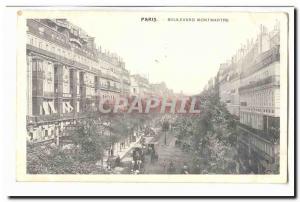 Paris (9th) Old Postcard Boulevard Montmartre