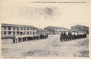 CHILLICOTHE , Ohio , 1917 ; Camp Sherman , 1st lessons in Army Life
