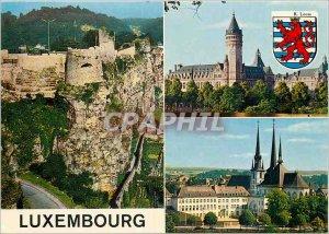 Postcard Modern Luxembourg Rochers du Bock and fortifications Savingsbank Cat...