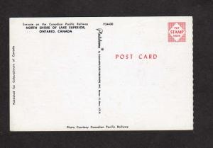 ON Canadian Pacific Railroad train Railway Lake Superior Ontario Carte Postale