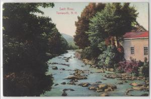 Swift River Tamworth NH New Hampshire River Houses Color View Antique Postcard
