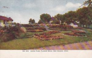 Iowa Des Moines Flower Beds In Union Park