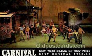 Carnival, New York Drama Critic's Prize Opera Postcard Postcards  Carnival, N...