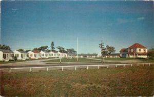Truro Nova Scotia~Tideview Motel & Cottages~Route 2 to Amherst~1950s Postcard