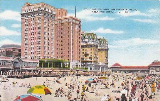 New Jersey Atlantic City Saint Charles And Breakers Hotels