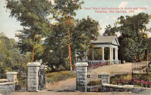 Hot Springs Arkansas band stand entrance Army-Navy Hospital antique pc Z22326