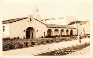Vallejo California~Junior High School~Waste Not Thine Hour~1939 Real Photo~RPPC