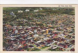 Oklahoma Enid Aerial View Curteich