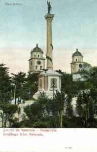 venezuela, VALENCIA, Plaza Bolivar (1899) Postcard