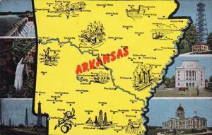 State Map Of Akansas