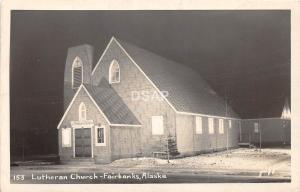 B92/ Fairbanks Alaska AK Real Photo RPPC Postcard c1950s Lutheran Church