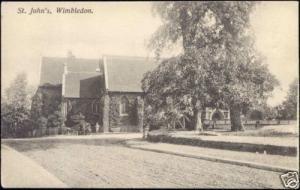 london, WIMBLEDON, St. John's Church (1910s)