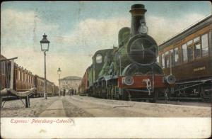 Petersburg - Ostende Belgium Express RR Train c1910 Used Postcard
