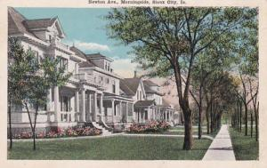 Iowa Sioux City Newton Avenue Morningside Residential Section