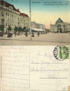 ukraine russia, CHERNIVTSI CZERNOWITZ, Chamber of Commerce (1911) Postcard