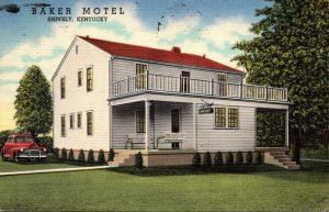 Kentucky Shively Baker Motel 1950 Curteich