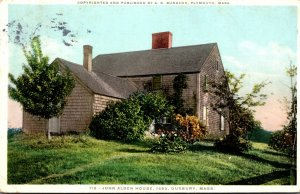 Massachusetts Dubury John Alden House Built 1653 1923 Detroit Publishing