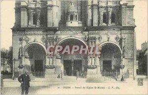 Old Postcard Dijon Church St Michel Portal