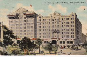 SAN ANTONIO , Texas , 1910 ; St Anthony Hotel & Annex