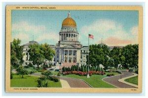 State Capitol Boise Idaho 1953 Vintage Postcard