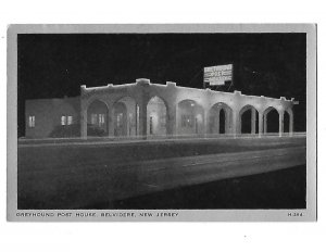 Greyhound Post House Fine Food  Belvidere New Jersey 1940s Cars