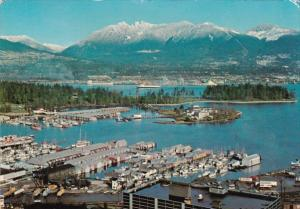 Canada British Columbia Vancouver Aerial View Showing Coral Harbour Pleasure ...