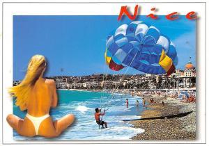 France Cote d'Azur Nice La Promenade des Anglais Beach Plage Strand