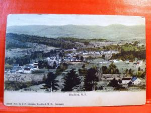 Postcard NH Bradford Airview of Town in 1907 Pub by J.H. Johnson