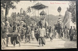 Mint Ceylon Real Picture Postcard RPPC Kandy Perahera Parade