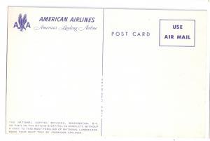 Capitol Building Washington DC American Airlines Postcard