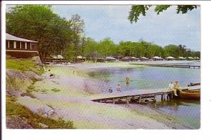 Cottages, Bayview Private Park, People and Boats at Dock, Honey Harbour, Geor...
